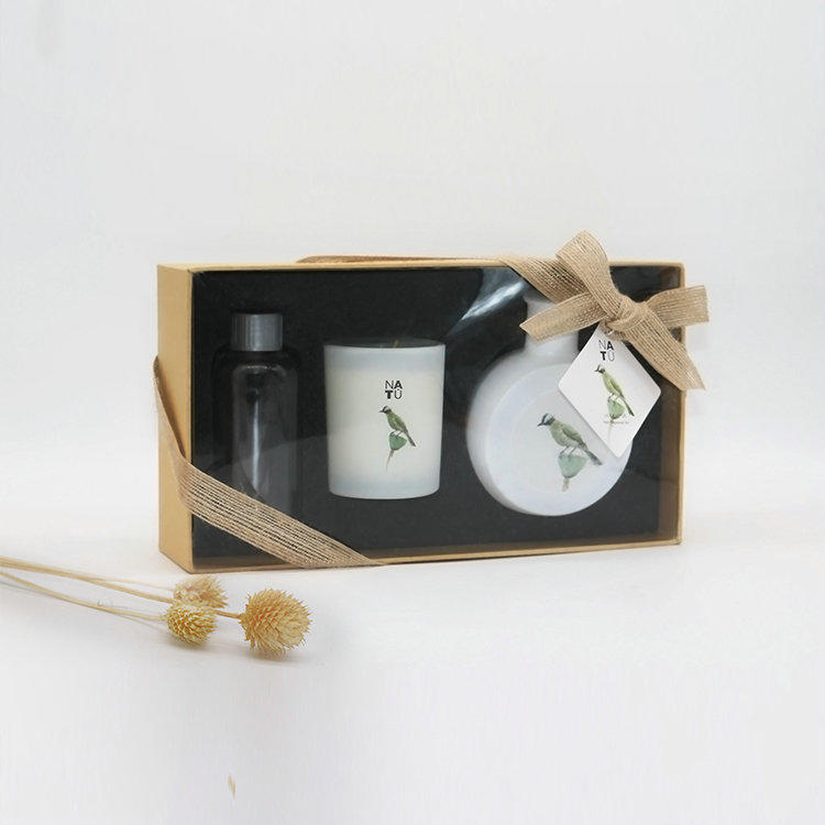 matte color gold/silver lid 100ml round glass bottle ceramic flower diffuser in box